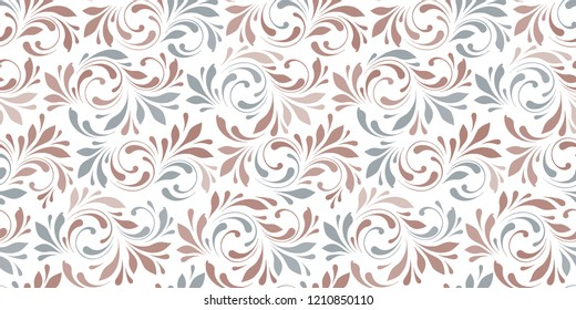 Floral seamless background for textile, wallpapers, wrapping, paper. Delicate nature texture.