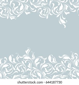 Floral seamless border. Decorative lace pattern for ribbon. Soft flourish background.