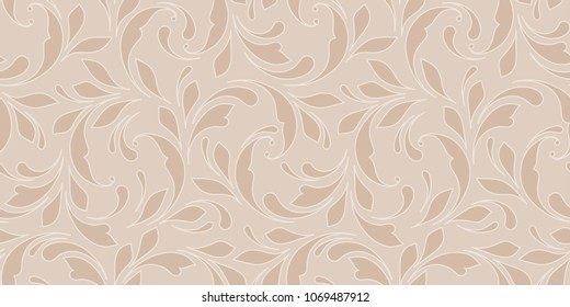 Floral seamless pattern for bakground textile, wallpapers, wrapping, paper. Soft nature ornament.