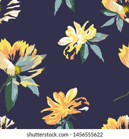 Floral seamless pattern with beautiful flower.