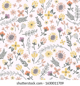 Floral seamless pattern with beautiful Rose for wrapping paper and summer fashion prints. Vector illustration support CMYK.