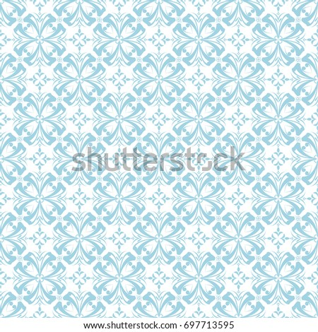 Floral Seamless Pattern Blue White Abstract Stock Vector