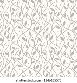 Floral seamless pattern can be used for wallpaper, website background, textile printing. Hand drawn endless vector illustration of flowers on light background. Flower theme. Summer collection.