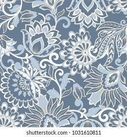 Floral seamless pattern. damask vector background