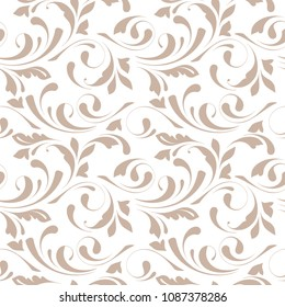 Floral seamless pattern. Delicate design. Endless texture for wrapping, textiles, paper, wallpaper.