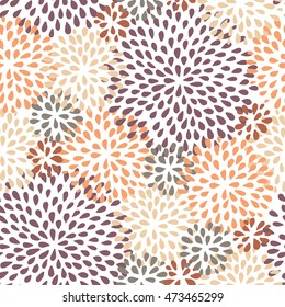 floral seamless pattern. Doodle style. Abstract vector illustration.