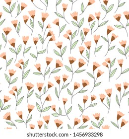 Floral seamless pattern. Flowers Pattern for wrapping paper and fashion prints. Vector art.