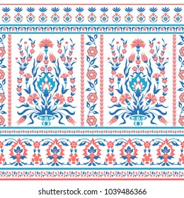 Floral seamless pattern in folk style
