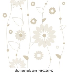 Floral seamless pattern, Graphic design element.