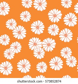 Floral seamless pattern with hand drawn flowers for textile, wallpapers, gift wrap and scrapbook. Vector illustration.