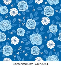 Floral Seamless Pattern With Hand Drawn Cute Flowers For Textile Wallpapers Gift Wrap And