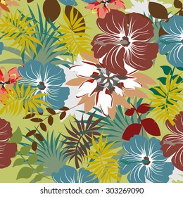 Floral Seamless Pattern - Illustration