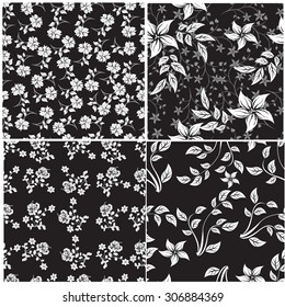 Floral Seamless Pattern - Illustration Flower, Single Flower, Floral Pattern, Pattern, Backgrounds