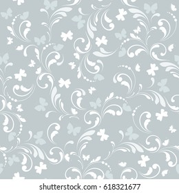 Floral seamless pattern. Lace texture for fabric, wallpaper, paper, wrapping.