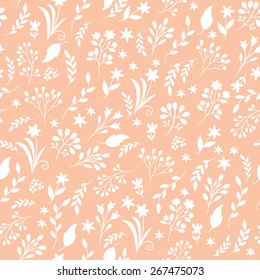 floral seamless pattern, one color background