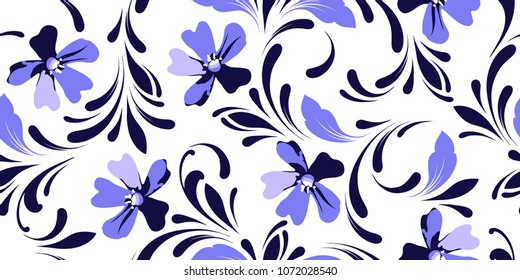 Floral seamless pattern. Plant background for fabric, wallpaper, paper, wrappimg.