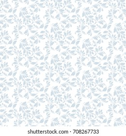 Floral seamless pattern. Plant texture for fabric, wrapping and paper. Decorative print.