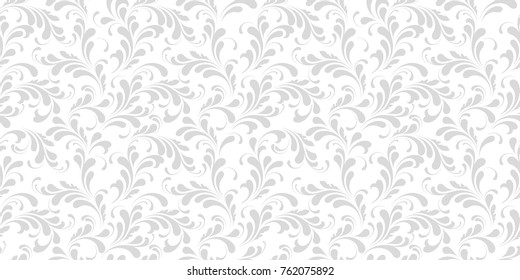 Floral seamless pattern. Plant texture for fabric, wrapping, wallpaper and paper. Decorative print.