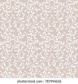 Floral seamless pattern. Soft background for fabric, wallpaper, wrapping, paper and cover. Lacy texture.
