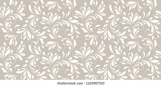 Floral seamless pattern. Soft design. Endless texture for wrapping, textiles, paper, wallpaper, background.