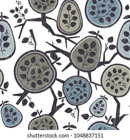 Floral seamless pattern. Vector illustration