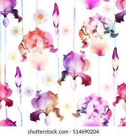 Floral seamless pattern. Vector vintage wallpaper.