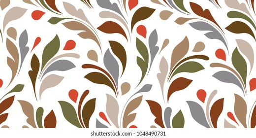 Floral seamless texture for textile, wallpapers, wrapping, paper. Plant ornament.