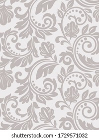 Floral seamless vector pattern. An ornamental and swirl design, wallpaper and background.