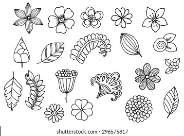 Flower Doodle Images, Stock Photos & Vectors | Shutterstock