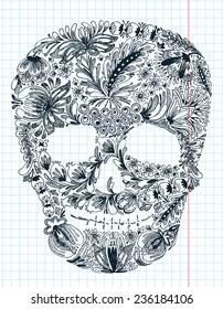Floral shape skull