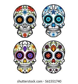 Floral Skull design