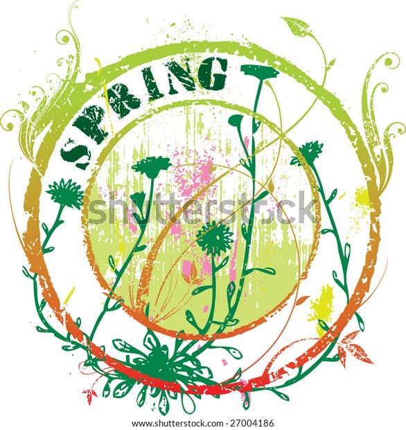 Floral spring stamp