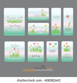 Set easter gift tags labels cute stock vector 579933451 shutterstock for romantic and easter design announcements greeting cards posters negle Choice Image
