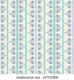 Floral stripes seamless Pattern