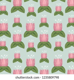 floral style with natual petals and leaves background