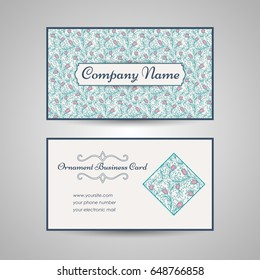 floral style pattern wedding invitation. Vector illustration
