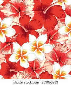 floral tropical seamless background