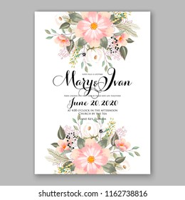 Floral vector background for wedding invitation christmas party invitation bridal shower baby shower christening baptism birthday card anniversary poinsettia winter holiday wreath