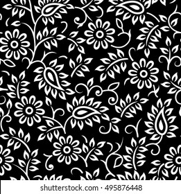 Black And White Floral Pattern Images Stock Photos Vectors