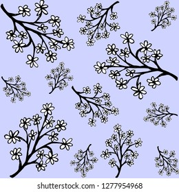 floral vector with blue back ground texture.