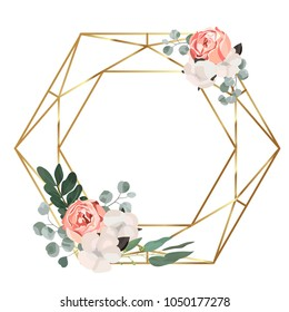Floral vector frame with place for your text.Can be used as greeting card, invitation card for wedding,birthday and other holiday background