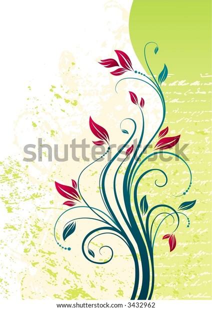 Floral vector illustration, background
