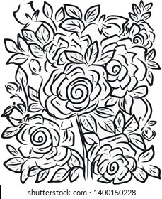 floral vector illustration suitable for background , textile, wallart , ads etc