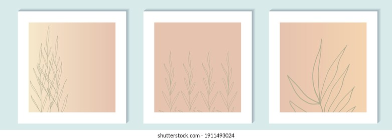 floral vector isolated compositions on painting, panel on the wall. decorations for greeting cards, invitations, banners, flyers.