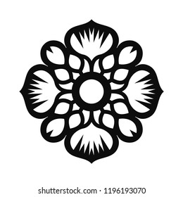 Floral Vector Ornament For Backgrounds, Logos, Stickers, Labels, Tags And Other Design.