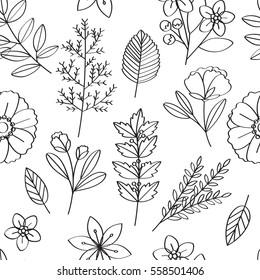 Floral Vector Pattern Design Illustration