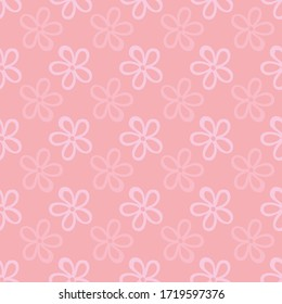 Floral vector repeat. Perfect for home, kids, stationary, wrapping, scrapbooking.