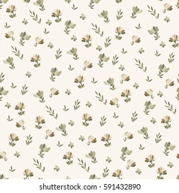 Floral vector seamless pattern with daisy, lilly, chrysanthemum graphic flowers of gold and beige. For textile, design, book and diary covers, wallpapers, print, gift packaging and scrapbook.