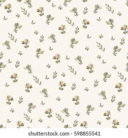 Floral vector seamless pattern with daisy, lilly, chrysanthemum graphic flowers of gold and beige. For textile, design, book and diary covers, wallpapers, print, gift packaging and scrapbook