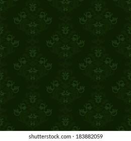 Floral vintage background, pattern. Vector illustration